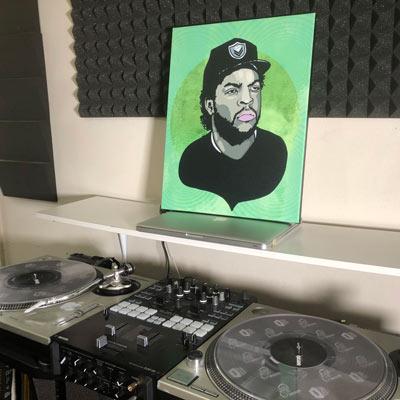 Ice Cube on Canvas